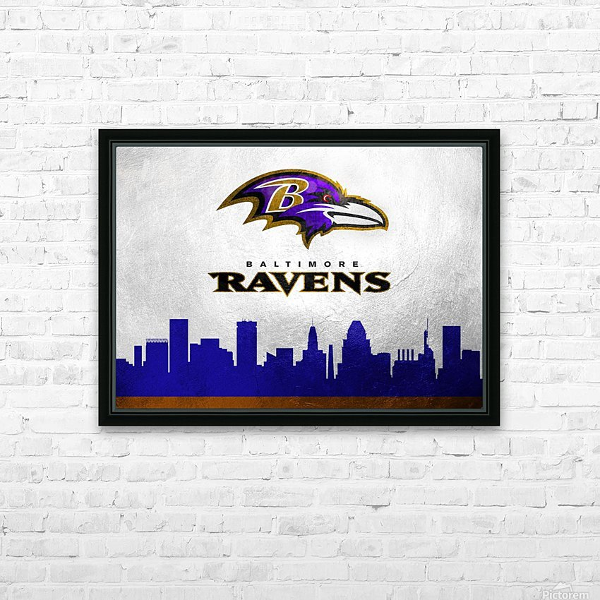 Baltimore Ravens HD Sublimation Metal print with Decorating Float Frame (BOX)