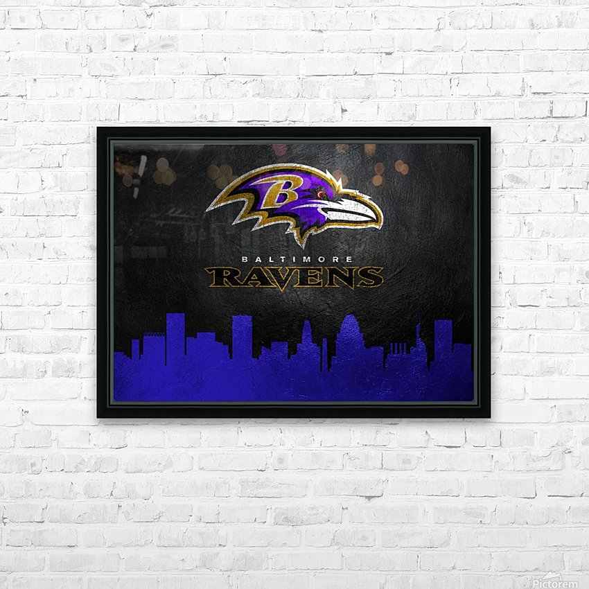 Baltimore Ravens Skyline HD Sublimation Metal print with Decorating Float Frame (BOX)