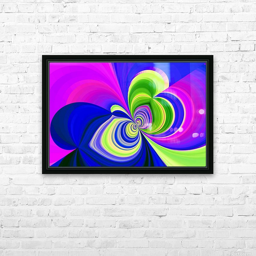 PSYCHEDELIC BUTTERFLY 2 HD Sublimation Metal print with Decorating Float Frame (BOX)