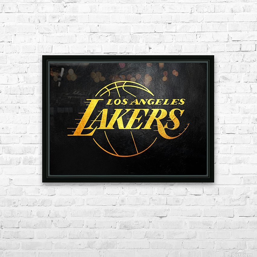 Lakers 2 HD Sublimation Metal print with Decorating Float Frame (BOX)