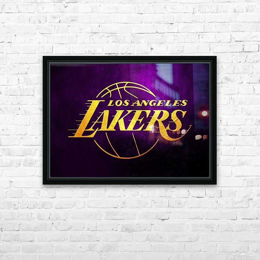 Lakers HD Sublimation Metal print with Decorating Float Frame (BOX)