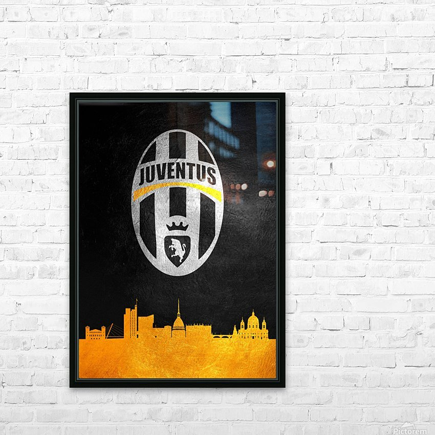 Juventus HD Sublimation Metal print with Decorating Float Frame (BOX)