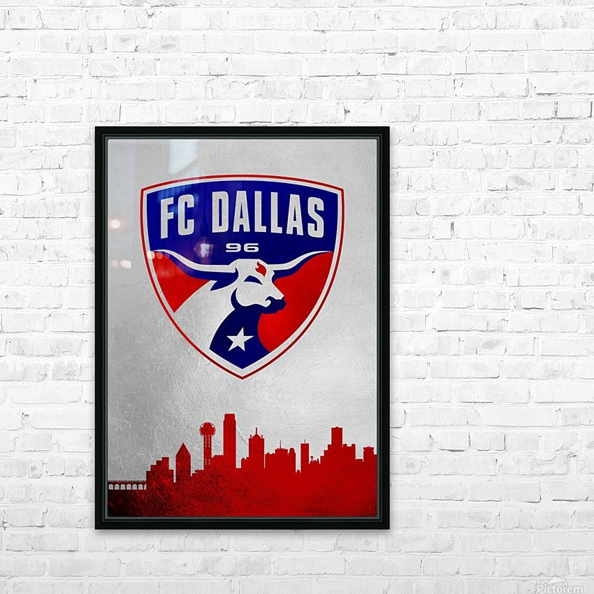 FC Dallas HD Sublimation Metal print with Decorating Float Frame (BOX)