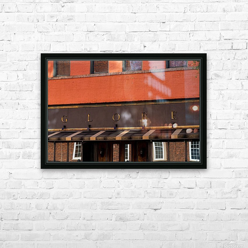 The Globe   Downtown Athens GA 07269 HD Sublimation Metal print with Decorating Float Frame (BOX)