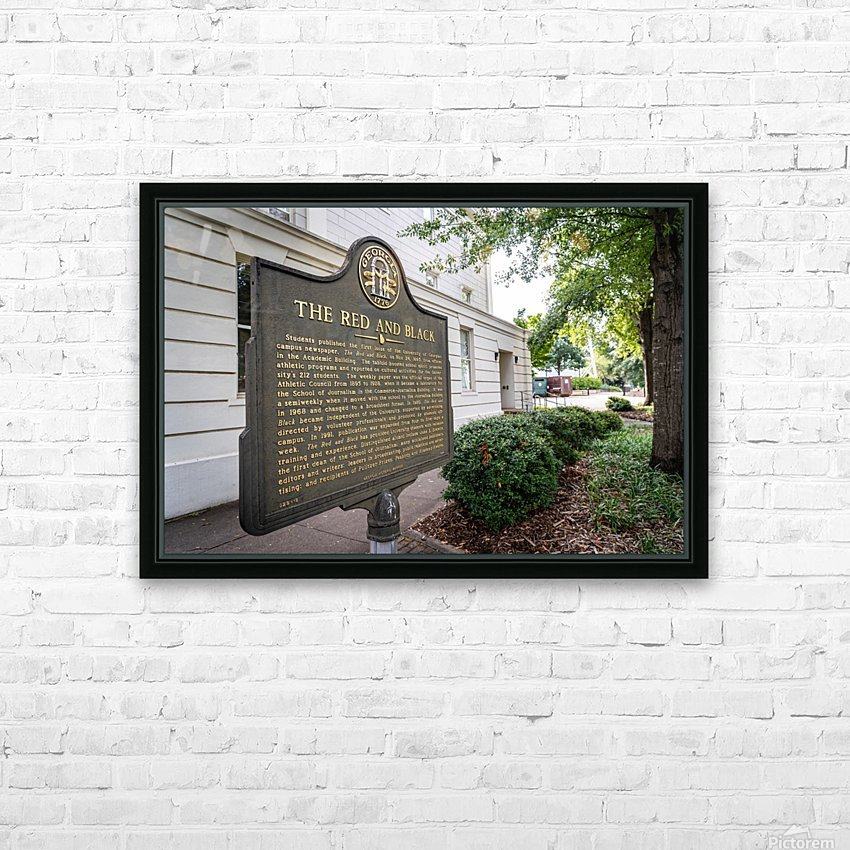 The Red and Balck Marker University of Georgia   Athens GA 9601 HD Sublimation Metal print with Decorating Float Frame (BOX)