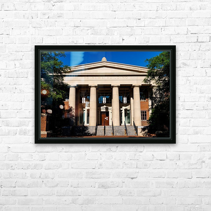 The News Building   Athens GA 07343 HD Sublimation Metal print with Decorating Float Frame (BOX)