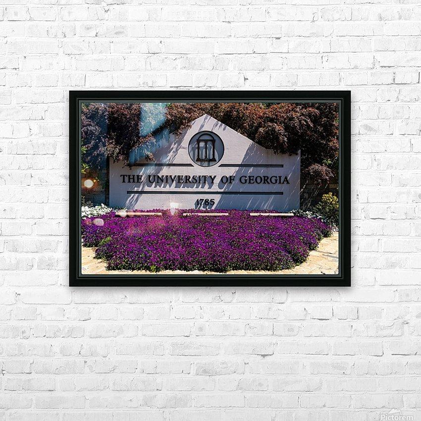 University of Georgia   Athens GA 07028 HD Sublimation Metal print with Decorating Float Frame (BOX)
