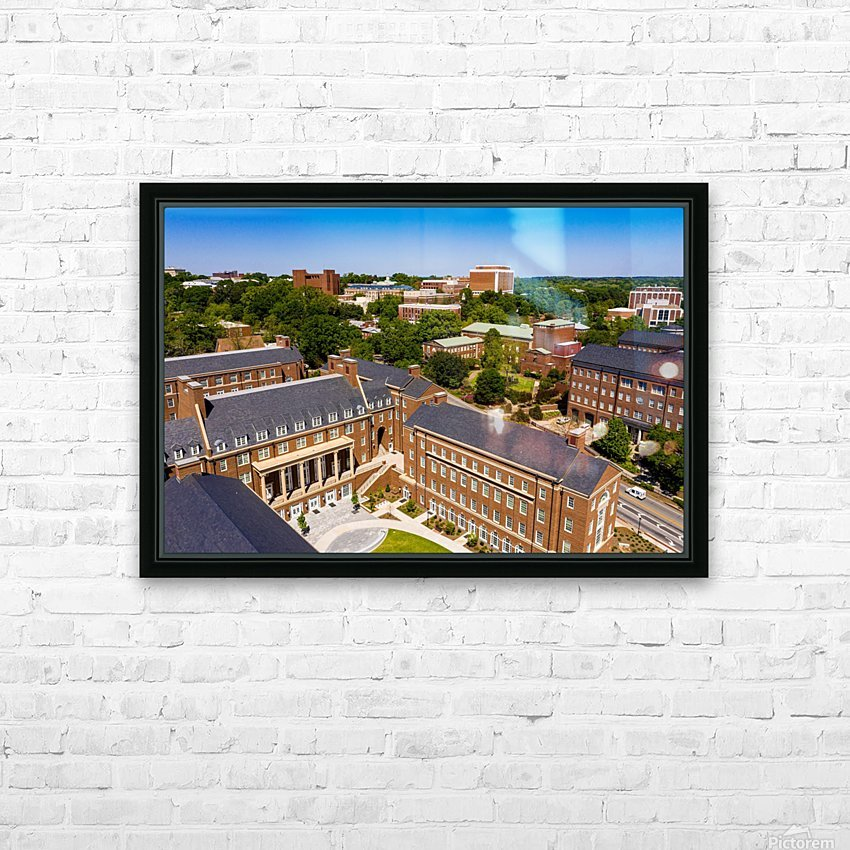 University of Georgia Aerial View   Athens GA 0905 HD Sublimation Metal print with Decorating Float Frame (BOX)
