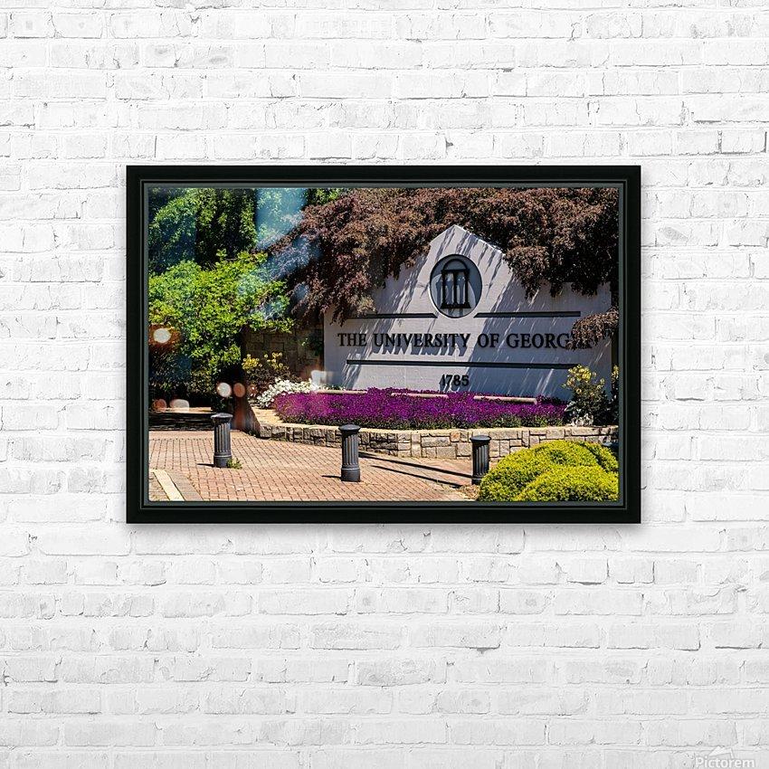University of Georgia   Athens GA 07074 HD Sublimation Metal print with Decorating Float Frame (BOX)