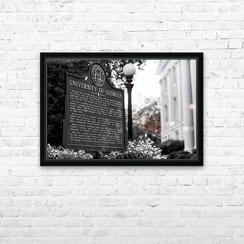 University of Georgia   Athens GA 07308 HD Sublimation Metal print with Decorating Float Frame (BOX)
