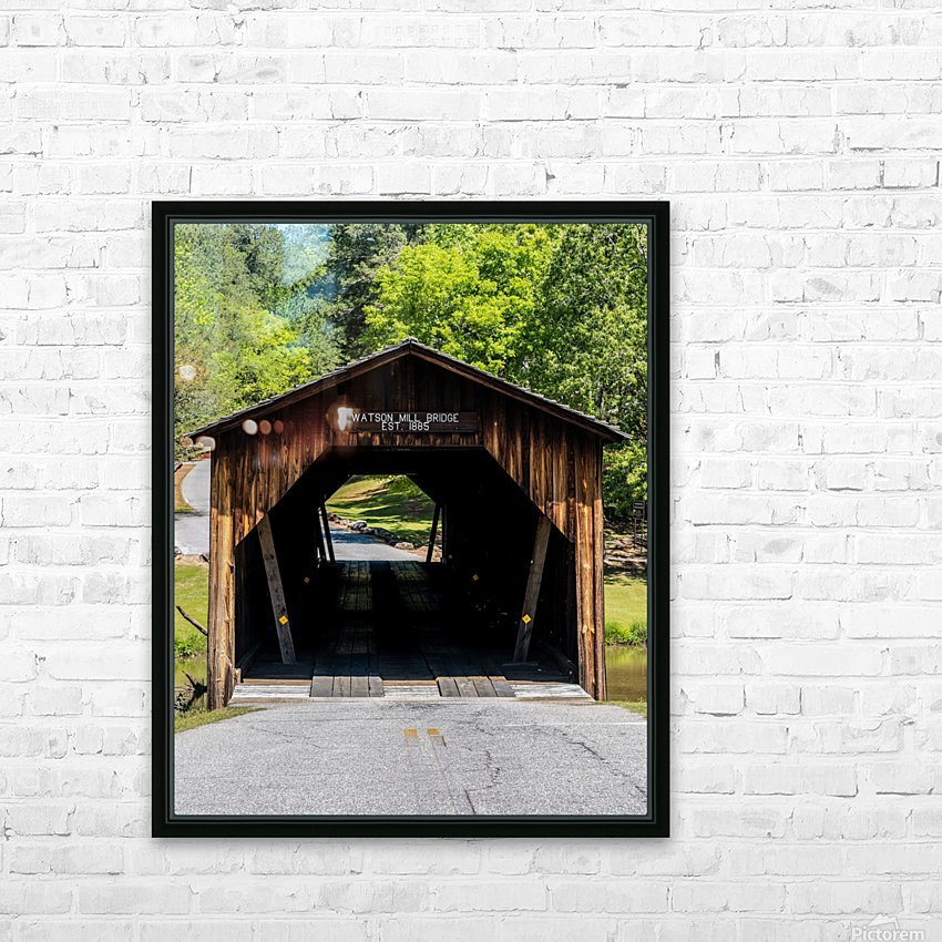 Watson Mill Bridge State Park   Comer GA 06571 HD Sublimation Metal print with Decorating Float Frame (BOX)