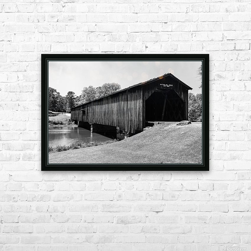 Watson Mill Bridge State Park   Comer GA 06587 HD Sublimation Metal print with Decorating Float Frame (BOX)