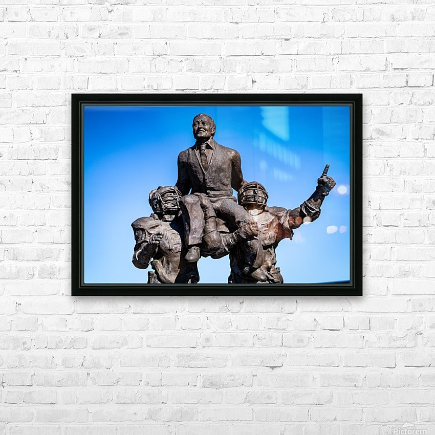 Vince Dooley Statue University of Georgia   Athens GA 07173 HD Sublimation Metal print with Decorating Float Frame (BOX)