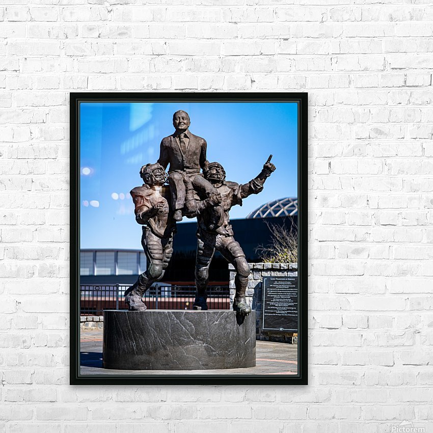 Vince Dooley Statue University of Georgia   Athens GA 07185 HD Sublimation Metal print with Decorating Float Frame (BOX)