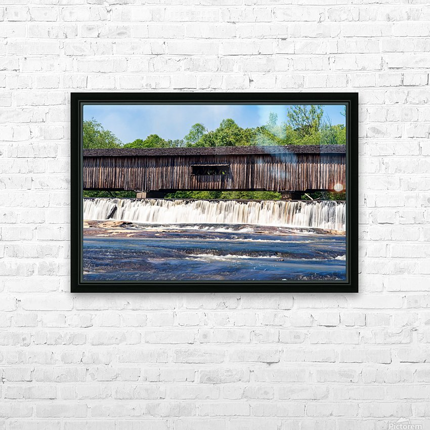 Watson Mill Bridge State Park   Comer GA 06715 HD Sublimation Metal print with Decorating Float Frame (BOX)
