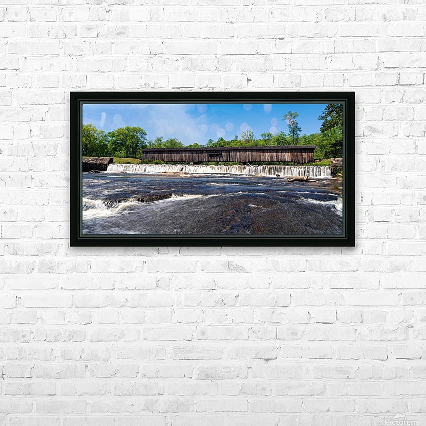 Watson Mill Bridge State Park   Comer GA 06668 HD Sublimation Metal print with Decorating Float Frame (BOX)