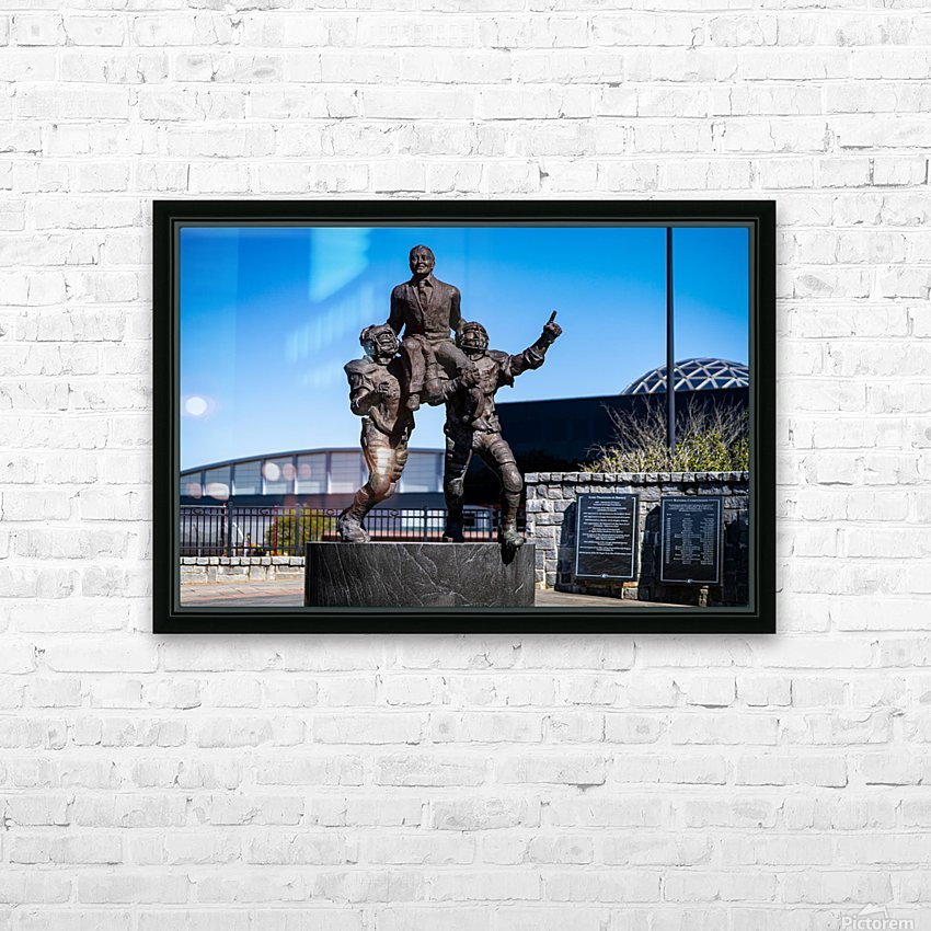 Vince Dooley Statue University of Georgia   Athens GA 07164 HD Sublimation Metal print with Decorating Float Frame (BOX)
