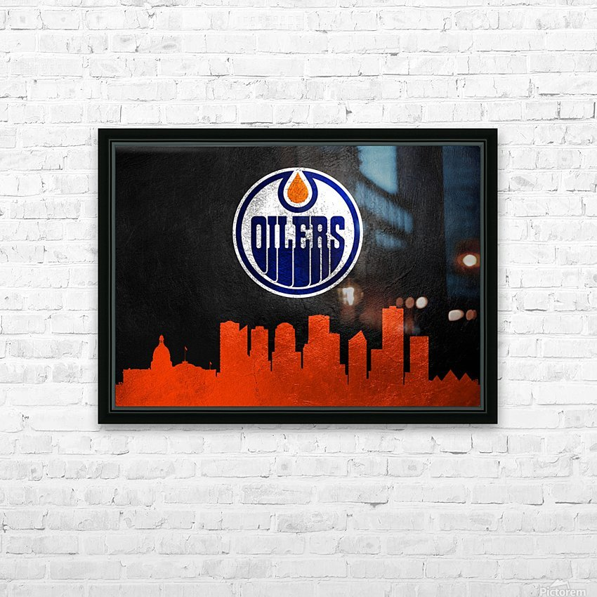 Edmonton Oilers HD Sublimation Metal print with Decorating Float Frame (BOX)