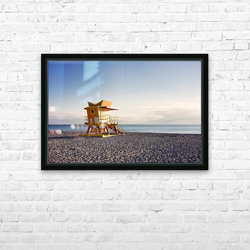 Miami Beach 058 HD Sublimation Metal print with Decorating Float Frame (BOX)