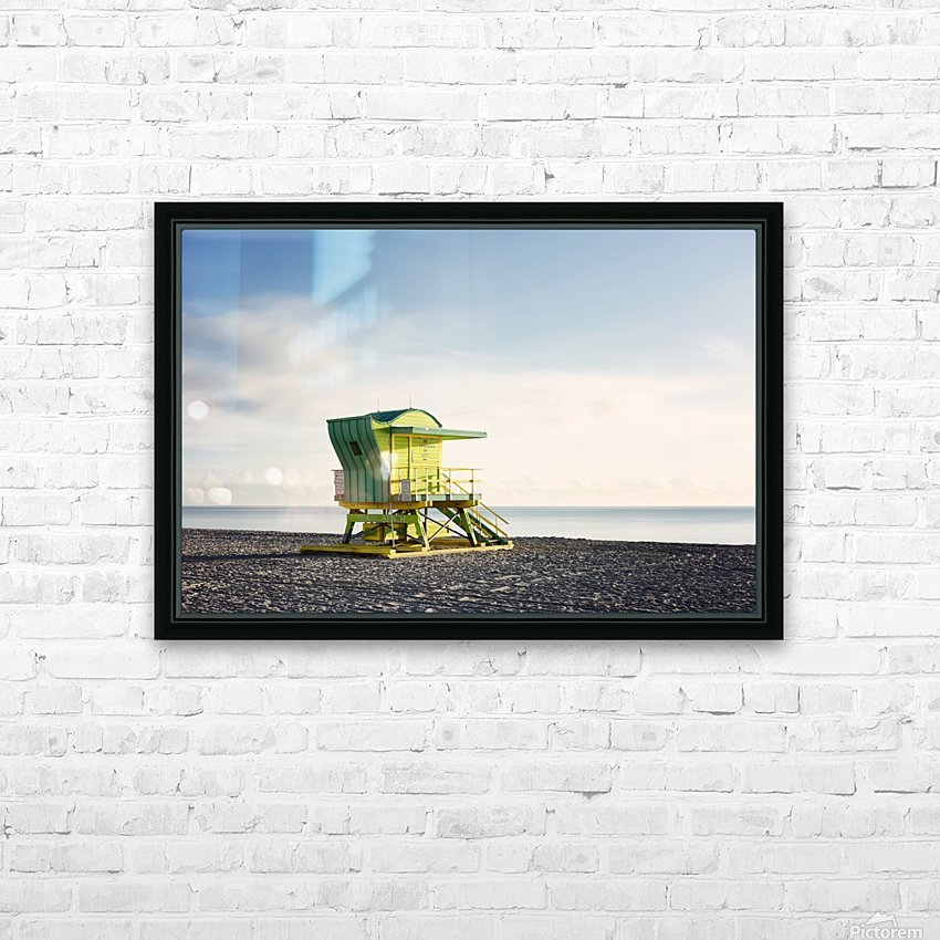 Miami Beach 048 HD Sublimation Metal print with Decorating Float Frame (BOX)