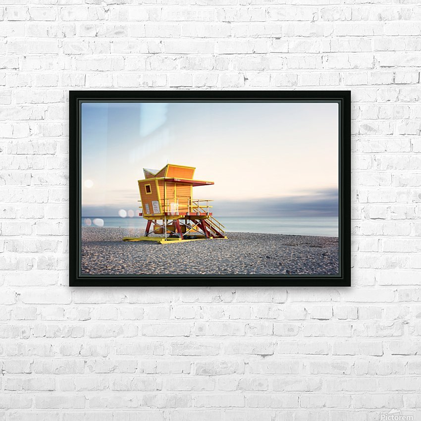 Miami Beach 0280 HD Sublimation Metal print with Decorating Float Frame (BOX)