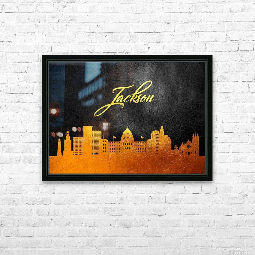 Jackson Florida Skyline Wall Art HD Sublimation Metal print with Decorating Float Frame (BOX)