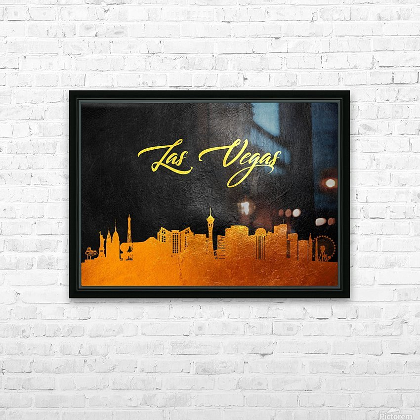Las Vegas Nevada Skyline Wall Art HD Sublimation Metal print with Decorating Float Frame (BOX)