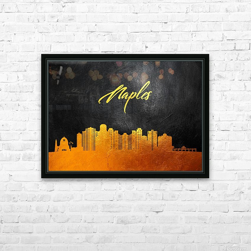 Naples Florida Skyline Wall Art HD Sublimation Metal print with Decorating Float Frame (BOX)