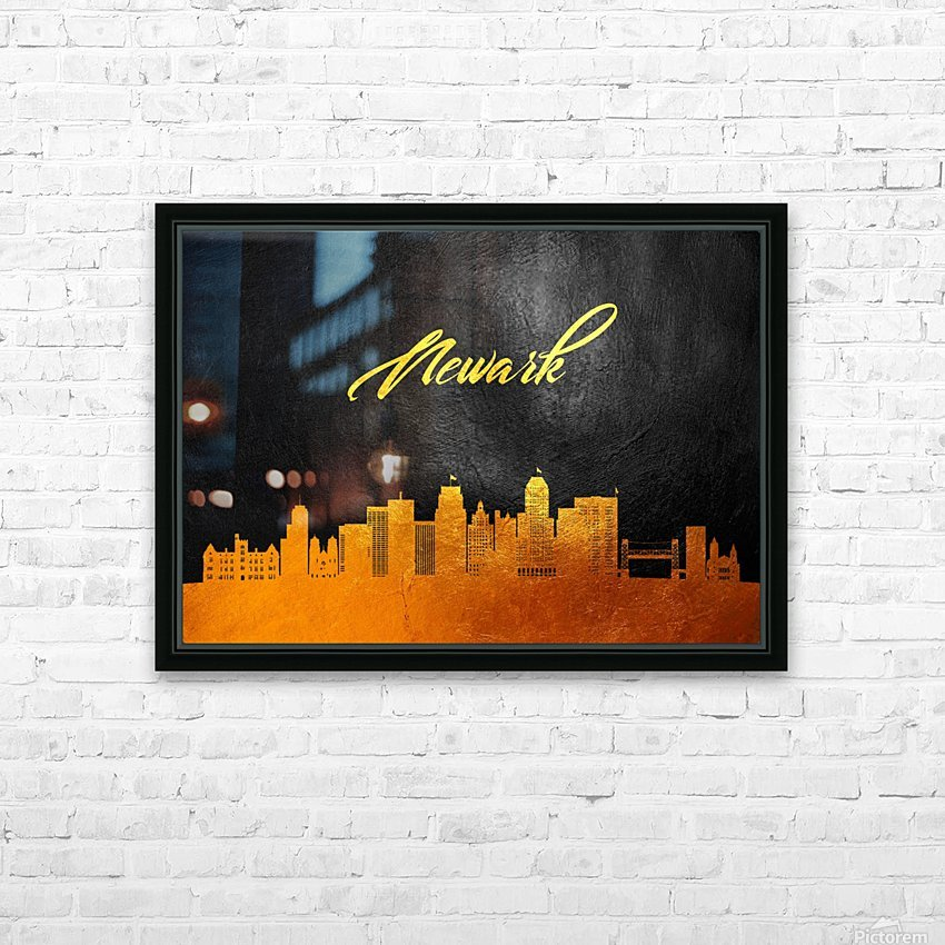 Newark New Jersey Skyline Wall Art HD Sublimation Metal print with Decorating Float Frame (BOX)