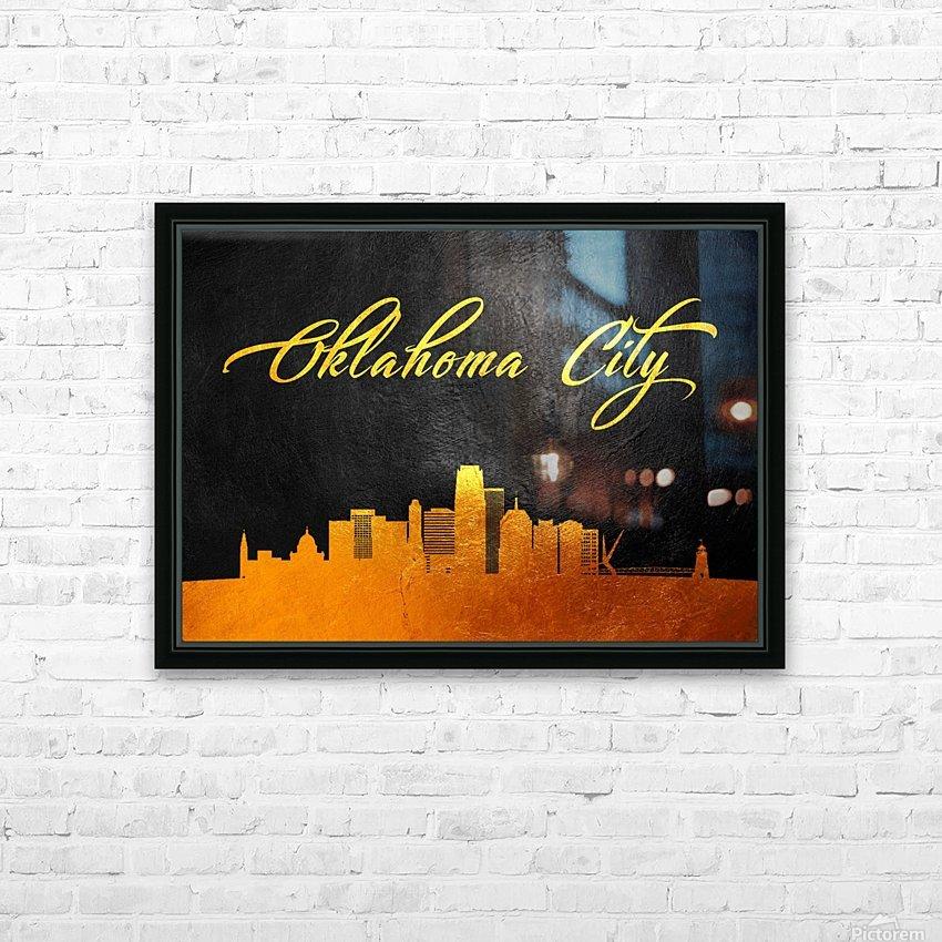 Oklahoma City Oklahoma Skyline Wall Art HD Sublimation Metal print with Decorating Float Frame (BOX)