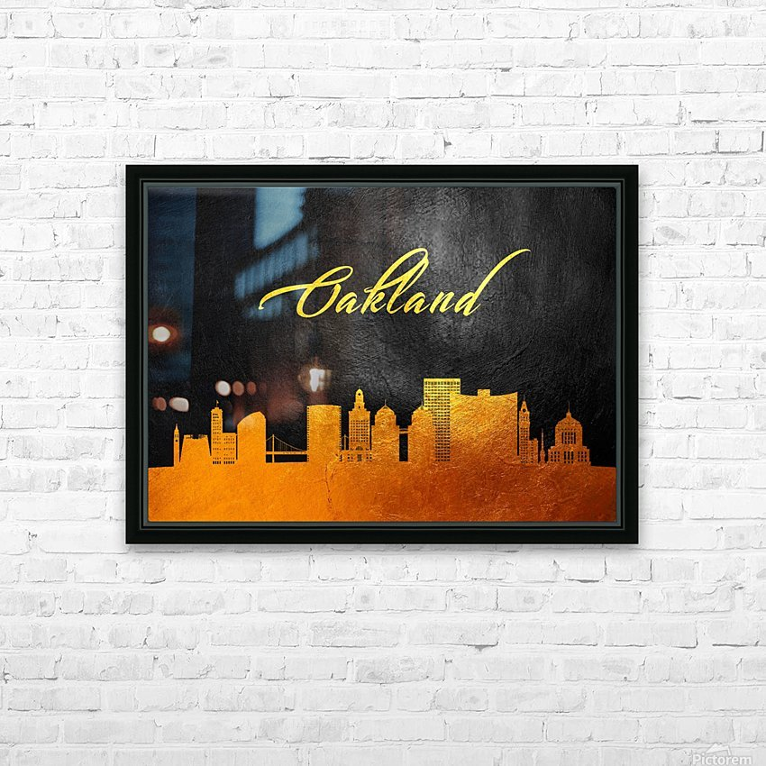 Oakland California Skyline Wall Art HD Sublimation Metal print with Decorating Float Frame (BOX)