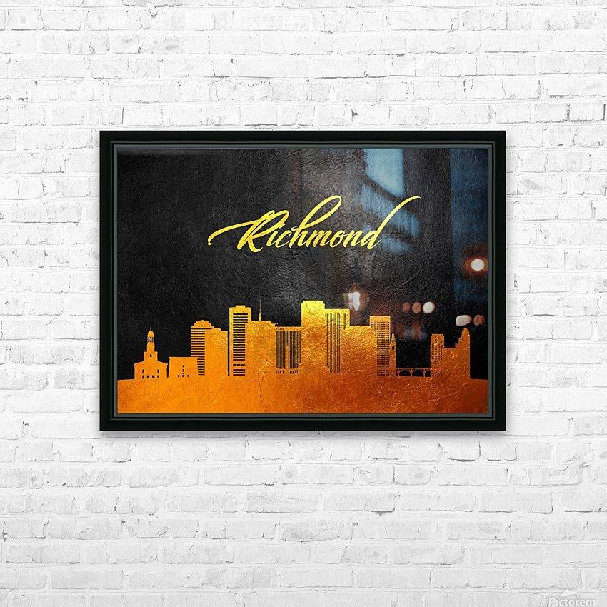 Richmond Virginia Skyline Wall Art HD Sublimation Metal print with Decorating Float Frame (BOX)