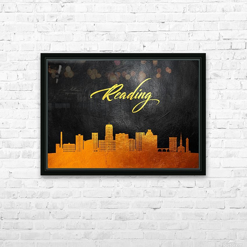 Reading Pennsylvania Skyline Wall Art HD Sublimation Metal print with Decorating Float Frame (BOX)