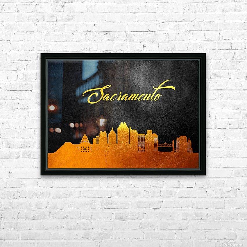 Sacramento California Skyline Wall Art HD Sublimation Metal print with Decorating Float Frame (BOX)