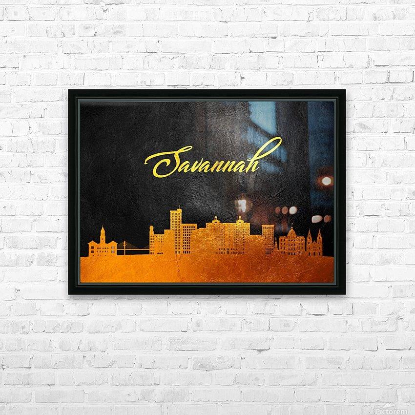 Savannah Georgia Skyline Wall Art HD Sublimation Metal print with Decorating Float Frame (BOX)