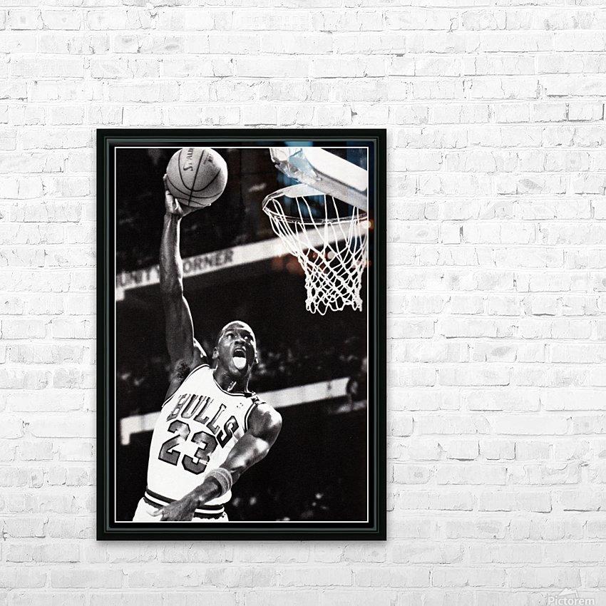 Retro Eighties Michael Jordan Basketball Art Print HD Sublimation Metal print with Decorating Float Frame (BOX)