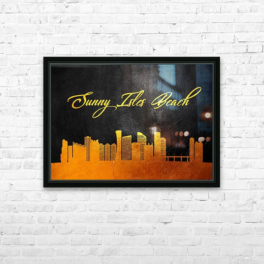 Sunny Isles Beach Florida Skyline Wall Art HD Sublimation Metal print with Decorating Float Frame (BOX)