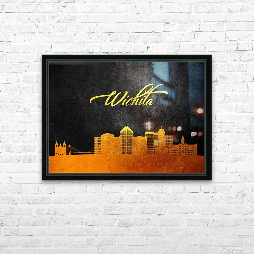 Wichita Kansas Skyline Wall Art HD Sublimation Metal print with Decorating Float Frame (BOX)