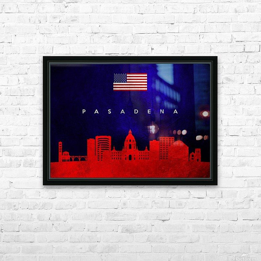 Pasadena California Skyline Wall Art HD Sublimation Metal print with Decorating Float Frame (BOX)