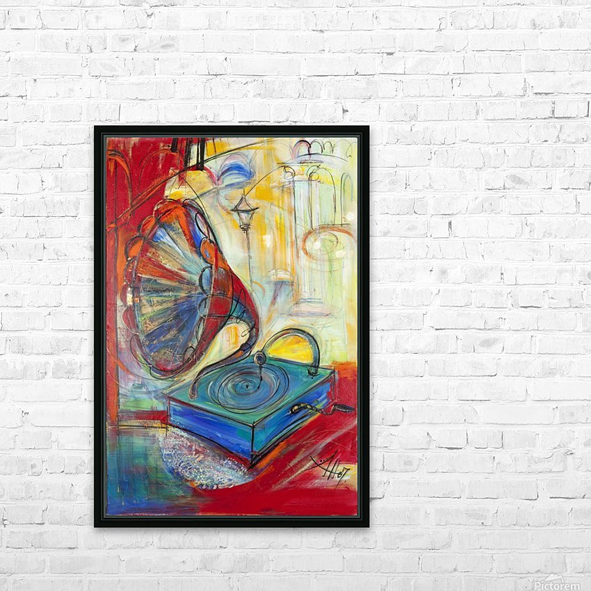 From the series of: Music HD Sublimation Metal print with Decorating Float Frame (BOX)