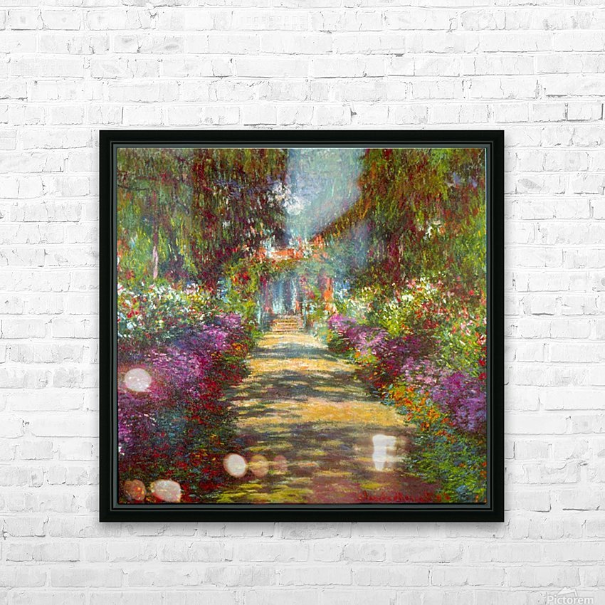 Giverny by Monet HD Sublimation Metal print with Decorating Float Frame (BOX)