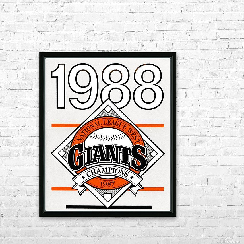 San Francisco Giants 1988 HD Sublimation Metal print with Decorating Float Frame (BOX)