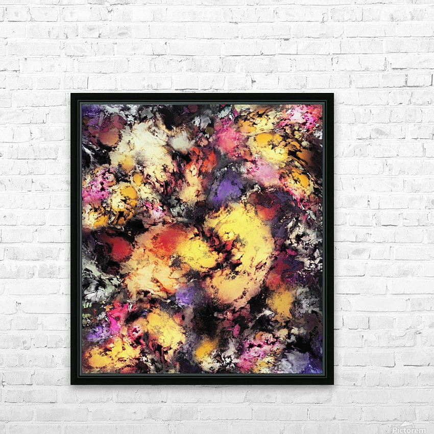 Ashes and heat HD Sublimation Metal print with Decorating Float Frame (BOX)