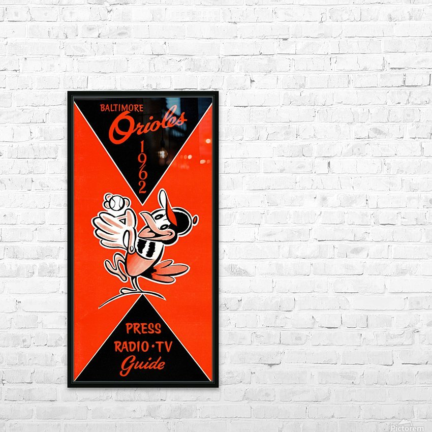 Row One 1962 Baltimore Orioles Press Guide HD Sublimation Metal print with Decorating Float Frame (BOX)