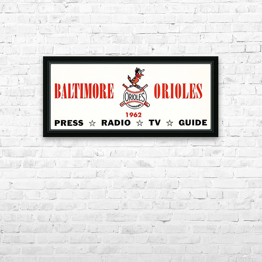 baltimore orioles press guide row one HD Sublimation Metal print with Decorating Float Frame (BOX)