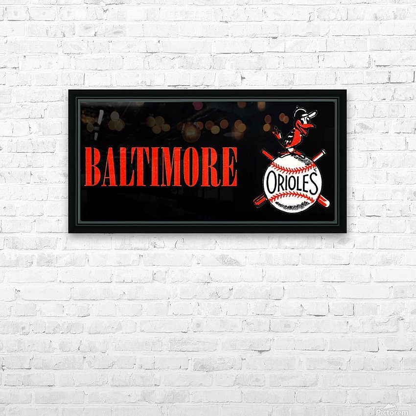 baltimore orioles retro remix row one HD Sublimation Metal print with Decorating Float Frame (BOX)