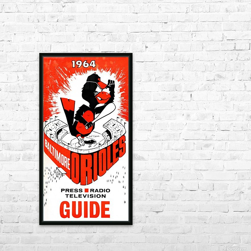 1964 baltimore orioles HD Sublimation Metal print with Decorating Float Frame (BOX)