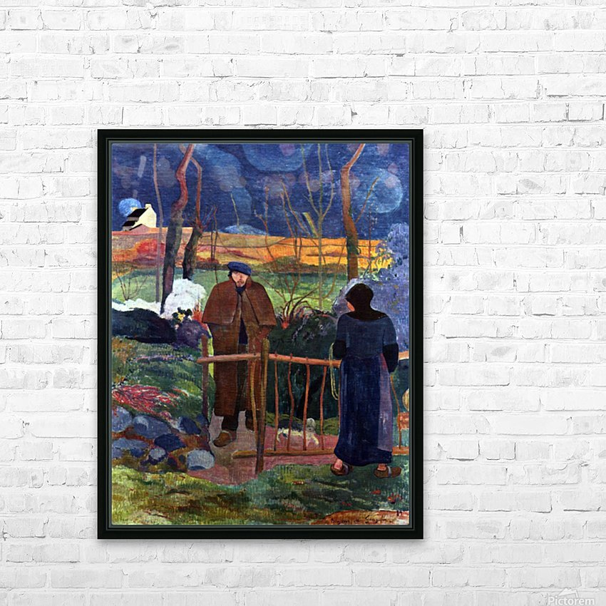 Good Day Mr. gauguin by Gauguin HD Sublimation Metal print with Decorating Float Frame (BOX)