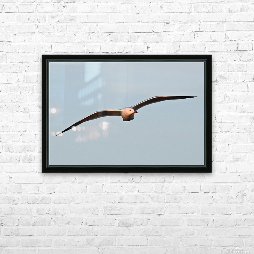 Fly like a Seagull HD Sublimation Metal print with Decorating Float Frame (BOX)