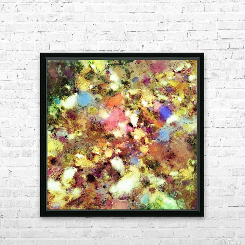 Discarded blooms HD Sublimation Metal print with Decorating Float Frame (BOX)